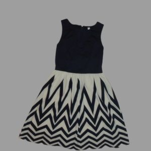 Navy Blue Chevron Dress Sz XS Not part of 30% off